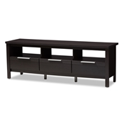 Baxton Studio Elaine Modern and Contemporary Wenge Brown Finished TV Stand Baxton Studio restaurant furniture, hotel furniture, commercial furniture, wholesale living room furniture, wholesale tv stand, classic tv stands