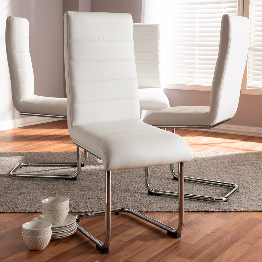 Baxton Studio Marlys Modern And Contemporary White Faux