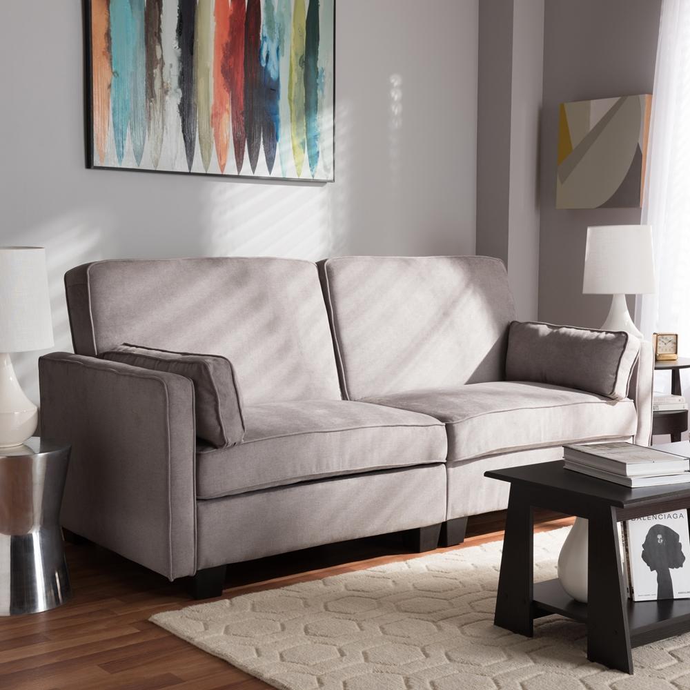 Baxton Studio Felicity Modern And Contemporary Light Gray