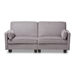 Baxton Studio Felicity Modern and Contemporary Light Gray Fabric Upholstered Sleeper Sofa - IER9003-Light Gray-SF