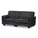 Baxton Studio Felicity Modern and Contemporary Dark Gray Fabric Upholstered Sleeper Sofa - IER9003-Dark Gray-SF