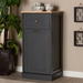 Baxton Studio Marcel Farmhouse and Coastal Dark Grey and Oak Brown Finished Kitchen Cabinet - IEWS01-Oak/Dark Grey