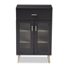 Baxton Studio Jonas Modern and Contemporary Dark Grey and Oak Brown Finished Kitchen Cabinet - IESE KC012WI-DG/HO