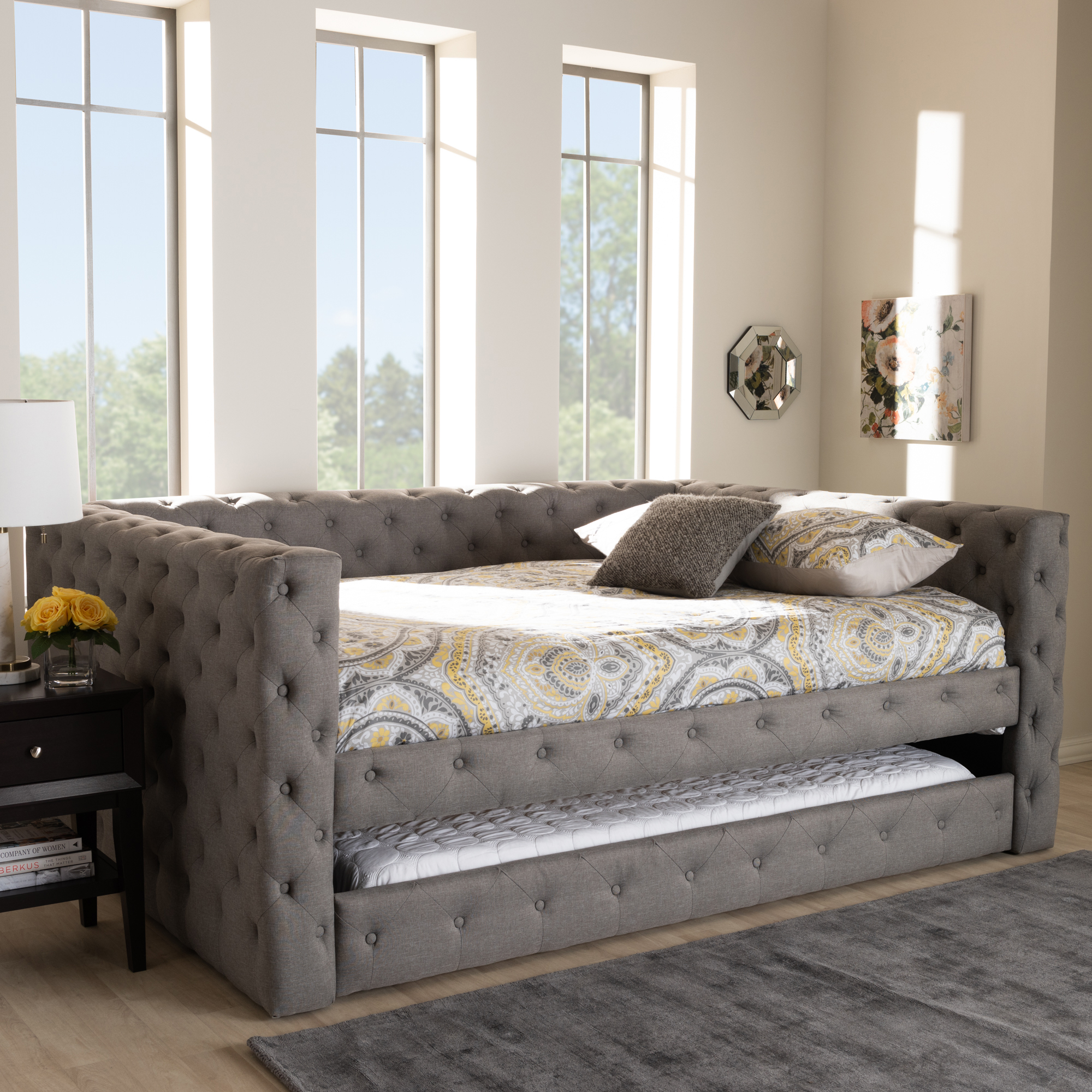 - Baxton Studio Anabella Modern And Contemporary Grey Fabric
