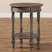 Baxton Studio Noemie Country Cottage Farmhouse Brown Finished End Table - IEROB19-Brown-ET