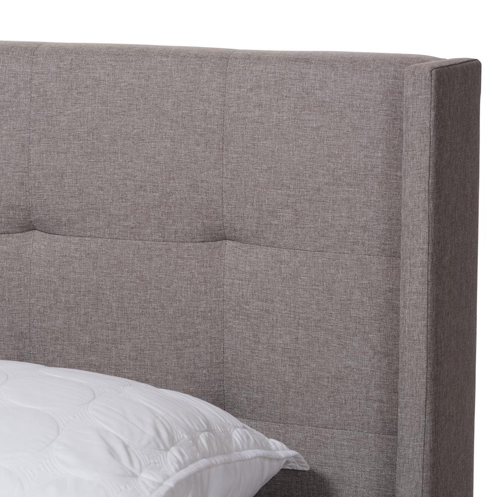 Baxton Studio Arcadia Modern And Contemporary Grey Fabric: Baxton Studio Lisette Modern And Contemporary Grey Fabric