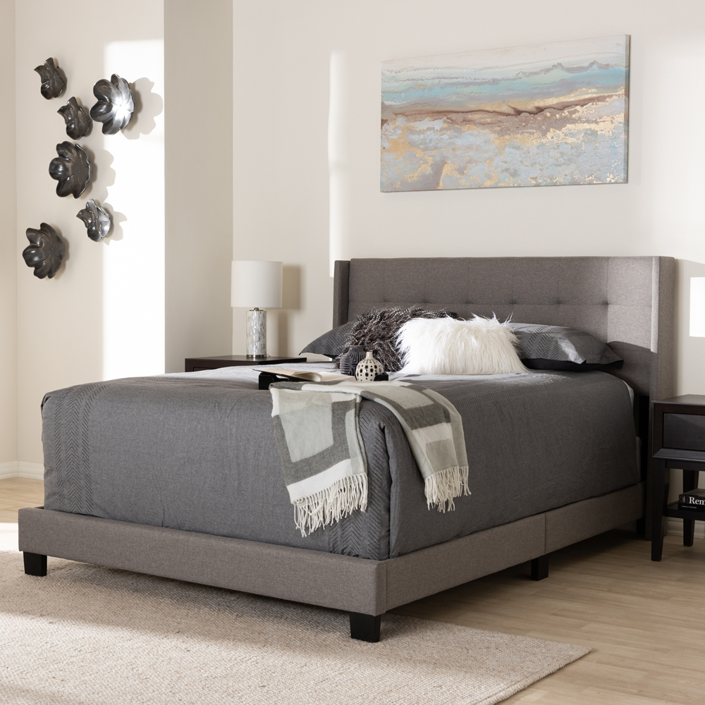 Baxton Studio Lisette Modern And Contemporary Grey Fabric