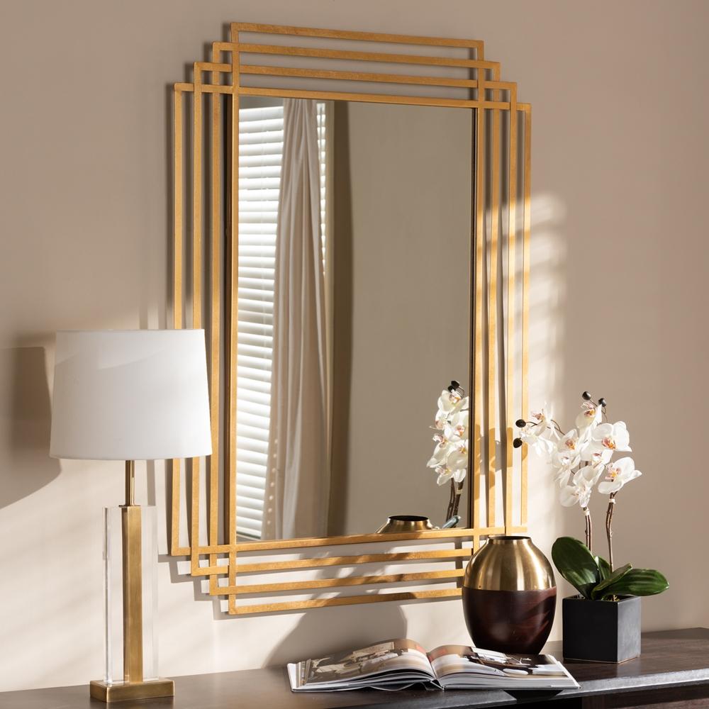 Baxton Studio Kalinda Art Deco Antique Gold Finished ...
