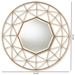Baxton Studio Graca Modern and Contemporary Antique Silver Finished Oval Accent Wall Mirror - IERXW-6156