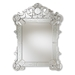 Baxton Studio Floriana Classic and Traditional Silver Finished Venetian Style Accent Wall Mirror