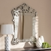 Baxton Studio Floriana Classic and Traditional Silver Finished Venetian Style Accent Wall Mirror - IERXW-6162
