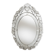 Baxton Studio Livia Classic and Traditional Silver Finished Venetian Style Accent Wall Mirror