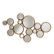 Baxton Studio Cassiopeia Modern and Contemporary Antique Gold Finished Bubble Accent Wall Mirror