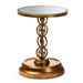 Baxton Studio Cressida Modern and Contemporary Antique Gold Finished Metal and Mirrored Glass Accent Table - IEHE17T113-ET