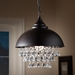Baxton Studio Viona Modern and Contemporary Rust Metal and Crystal Pendant Light - IEEVEN4340