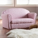 Baxton Studio Erica Modern and Contemporary Pink and White Heart Patterned Fabric Upholstered Kids 2-Seater Sofa - IELD20832-Pink-SF