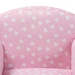 Baxton Studio Erica Modern and Contemporary Pink and White Heart Patterned Fabric Upholstered Kids Armchair - IELD-20832-Pink-CC