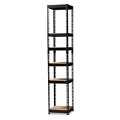 Baxton Studio Gavin Modern and Contemporary Black Metal 5-Shelf Closet Storage Racking Organizer