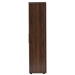Baxton Studio Rikke Modern and Contemporary Two-Tone Gray and Walnut Finished Wood 7-Shelf Wardrobe Storage Cabinet - IEBR3WR307-Columbia/Dark Grey-Cabinet