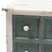 Baxton Studio Angeline Antique French Country Cottage Distressed White and Teal Finished Wood 5-Drawer Accent Chest - IEHY2AB040-White-Chest