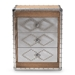 Baxton Studio Audric French Industrial Brown Wood and Silver Metal 3-Drawer Accent Chest - IEMS17A014-Light Brown-Chest