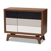 Baxton Studio Svante Mid-Century Modern Multicolor Finished Wood 6-Drawer Chest Baxton Studio restaurant furniture, hotel furniture, commercial furniture, wholesale bedroom furniture, wholesale chest, classic chests