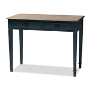 Baxton Studio Dauphine French Provincial Spruce Blue Accent Writing Desk Baxton Studio restaurant furniture, hotel furniture, commercial furniture, wholesale home office furniture, wholesale desk, classic desks