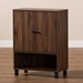 Baxton Studio Rossin Modern and Contemporary Walnut Brown Finished 2-Door Wood Entryway Shoe Storage Cabinet - IEATSC1613-Columbia-Shoe Cabinet