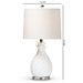 Baxton Studio Flinn Modern and Contemporary White Pineapple Table Lamp - IETPW0001