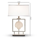 Baxton Studio Treasa Modern and Contemporary Antique Silver Metal Framed Seashell Table Lamp - IETPW0008