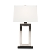 Baxton Studio Serre Modern and Contemporary Silver Metal Rectangular Cut-Out Table Lamp