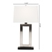 Baxton Studio Serre Modern and Contemporary Silver Metal Rectangular Cut-Out Table Lamp - IETMS0008
