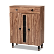 Baxton Studio Valina Modern and Contemporary 2-Door Wood Entryway Shoe Storage Cabinet with Drawer Baxton Studio restaurant furniture, hotel furniture, commercial furniture, wholesale entryway furniture, wholesale shoe cabinet, classic shoe cabinet