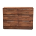 Baxton Studio Austin Modern and Contemporary Caramel Brown Finished 6-Drawer Wood Dresser - IEAustin-Almond-Dresser