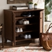 Baxton Studio Coolidge Modern and Contemporary Walnut Finished 4-Shelf Wood Shoe Storage Cabinet - IEFP-01LV-Walnut