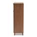 Baxton Studio Coolidge Modern and Contemporary Walnut Finished 5-Shelf Wood Shoe Storage Cabinet with Drawer - IEFP-03LV-Walnut