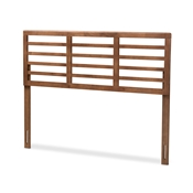 Baxton Studio Salome Mid-Century Modern Walnut Brown Finished Wood King Size Open Slat Headboard Baxton Studio restaurant furniture, hotel furniture, commercial furniture, wholesale bedroom furniture, wholesale king, classic king
