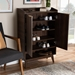 Baxton Studio Lena Mid-Century Modern Walnut Brown Finished 5-Shelf Wood Entryway Shoe Cabinet - IELV4SC4150WI-Columbia-Shoe Cabinet