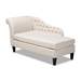 Baxton Studio Florent Modern and Contemporary Beige Fabric Upholstered Black Finished Chaise Lounge - IECFCL2-Beige/Black-KD Chaise