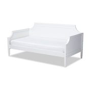 Baxton Studio Mariana Classic and Traditional White Finished Wood Twin Size Daybed Baxton Studio restaurant furniture, hotel furniture, commercial furniture, wholesale bedroom furniture, wholesale twin, classic twin