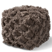 Baxton Studio Asuka Moroccan Inspired Taupe Handwoven Cotton Fringe Pouf Ottoman Baxton Studio restaurant furniture, hotel furniture, commercial furniture, wholesale living room furniture, wholesale ottoman, classic ottoman
