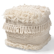 Baxton Studio Bartow Moroccan Inspired Beige Handwoven Cotton Pouf Ottoman Baxton Studio restaurant furniture, hotel furniture, commercial furniture, wholesale living room furniture, wholesale ottoman, classic ottoman