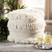 Baxton Studio Bartow Moroccan Inspired Beige Handwoven Cotton Pouf Ottoman - IEBartow-Ivory-Pouf