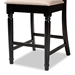 Baxton Studio Verina Modern and Contemporary Sand Fabric Upholstered Espresso Brown Finished Wood Counter Stool (Set of 2) - IERH323P-Sand/Dark Brown-PS