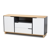 Baxton Studio Reed Mid-Century Modern Multicolor 2-Door Wood Dining Room Sideboard Baxton Studio restaurant furniture, hotel furniture, commercial furniture, wholesale dining room furniture, wholesale sideboard, classic sideboard