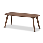 Baxton Studio Dahlia Mid-Century Modern Walnut Finished Coffee Table Baxton Studio restaurant furniture, hotel furniture, commercial furniture, wholesale living room furniture, wholesale coffee table, classic coffee table