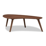 Baxton Studio Scarlette Mid-Century Modern Walnut Finished Coffee Table Baxton Studio restaurant furniture, hotel furniture, commercial furniture, wholesale living room furniture, wholesale coffee table, classic coffee table