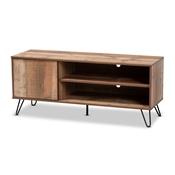 Baxton Studio Iver Modern and Contemporary Rustic Oak Finished 1-Door Wood TV Stand Baxton Studio restaurant furniture, hotel furniture, commercial furniture, wholesale living room furniture, wholesale tv stand, classic tv stand