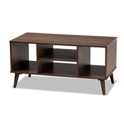 Baxton Studio Linas Mid-Century Modern Walnut Finished Coffee Table Baxton Studio restaurant furniture, hotel furniture, commercial furniture, wholesale living room furniture, wholesale coffee table, classic coffee table