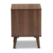 Baxton Studio Sami Mid-Century Modern Walnut Finished Wood End Table - IEET8001-Columbia Walnut-ET